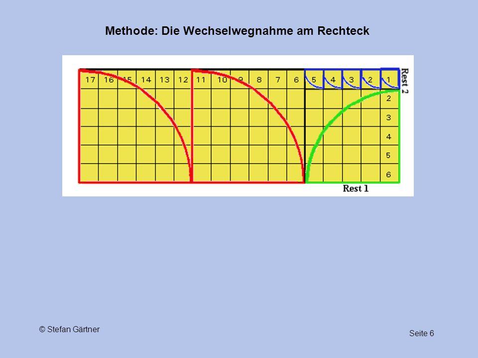 Methode: Die Wechselwegnahme am Rechteck Seite 6 © Stefan Gärtner