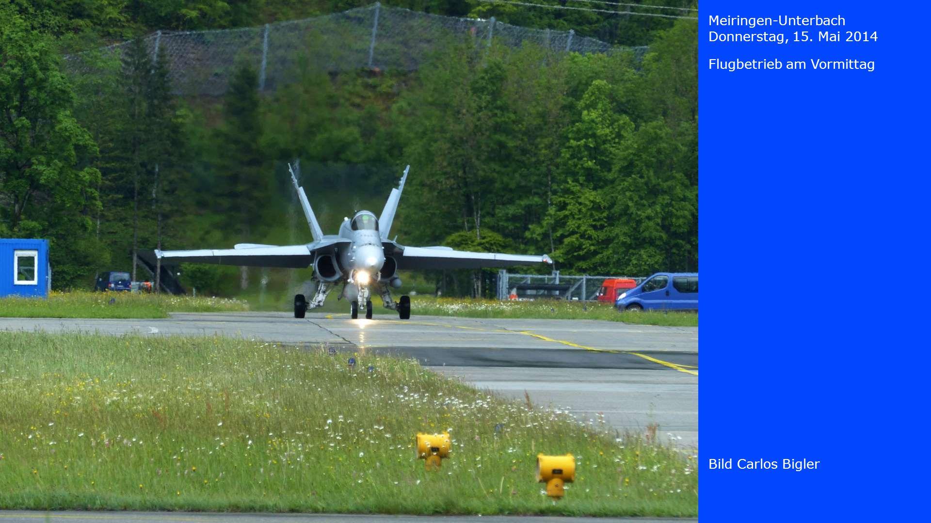 Meiringen-Unterbach Donnerstag, 15. Mai 2014 Bild Carlos Bigler Flugbetrieb am Vormittag