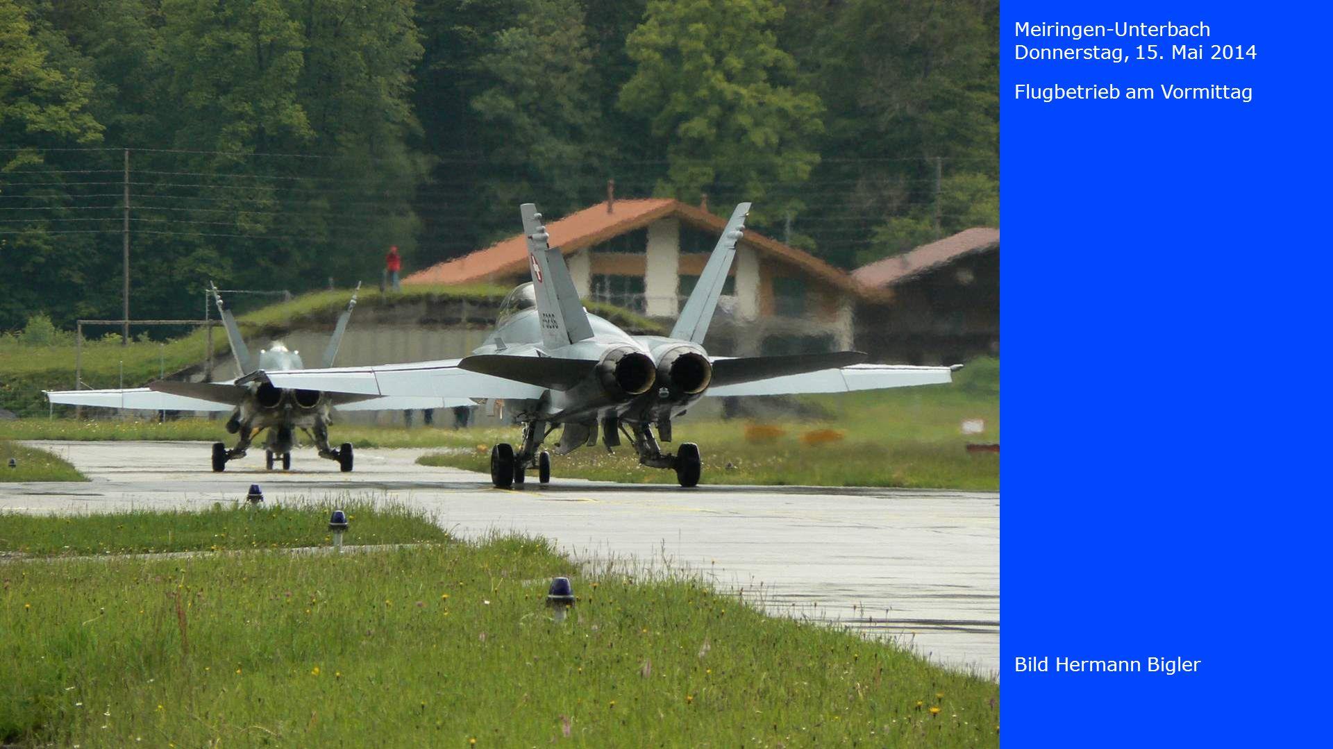 Meiringen-Unterbach Donnerstag, 15. Mai 2014 Bild Hermann Bigler Flugbetrieb am Vormittag