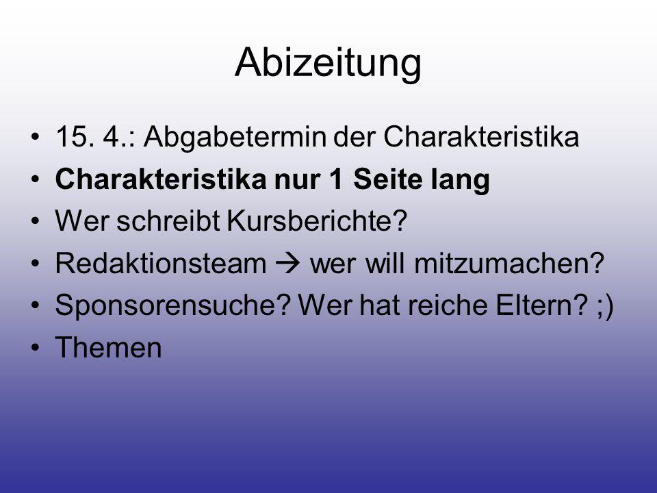 Abizeitung 15.