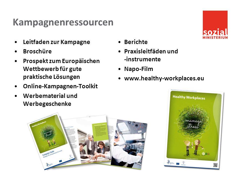 sozialministerium.at Kampagnenressourcen Leitfaden zur Kampagne Broschüre Prospekt zum Europäischen Wettbewerb für gute praktische Lösungen Online-Kam