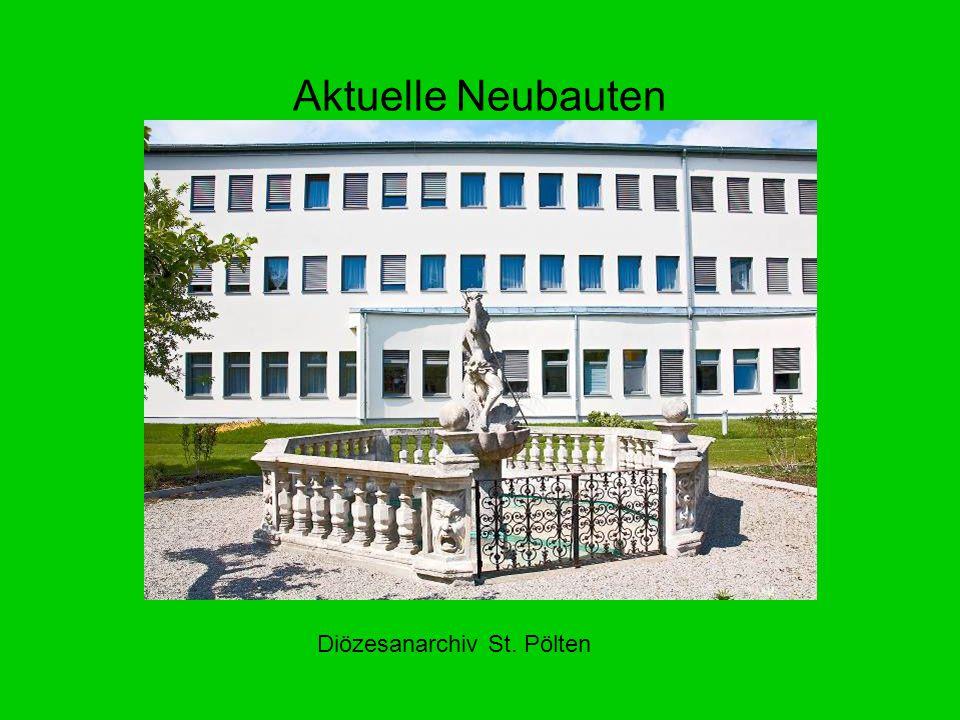 Aktuelle Neubauten Diözesanarchiv St. Pölten