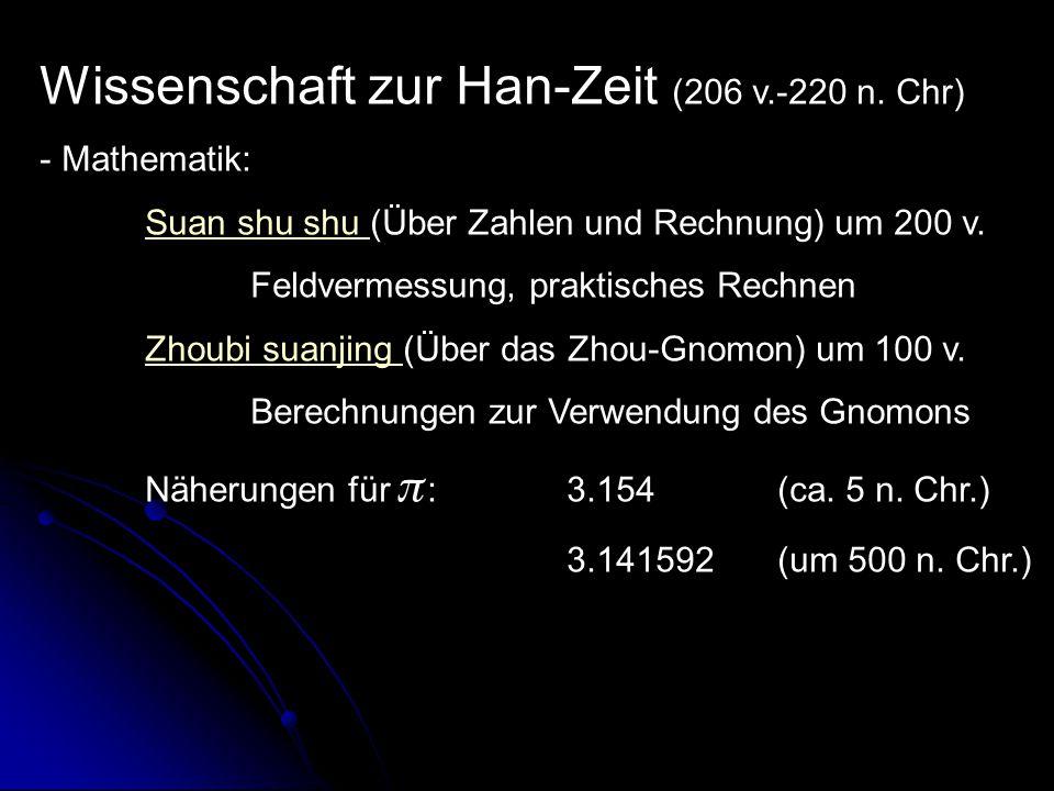 Wissenschaft zur Han-Zeit (206 v.-220 n.