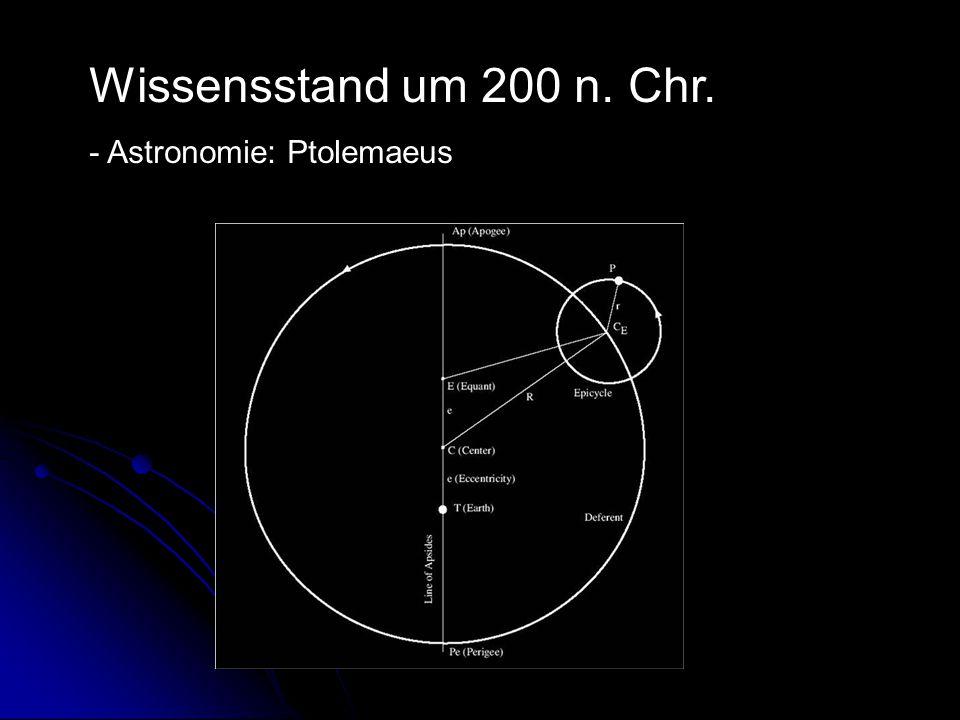 Wissensstand um 200 n. Chr. - Astronomie: Ptolemaeus