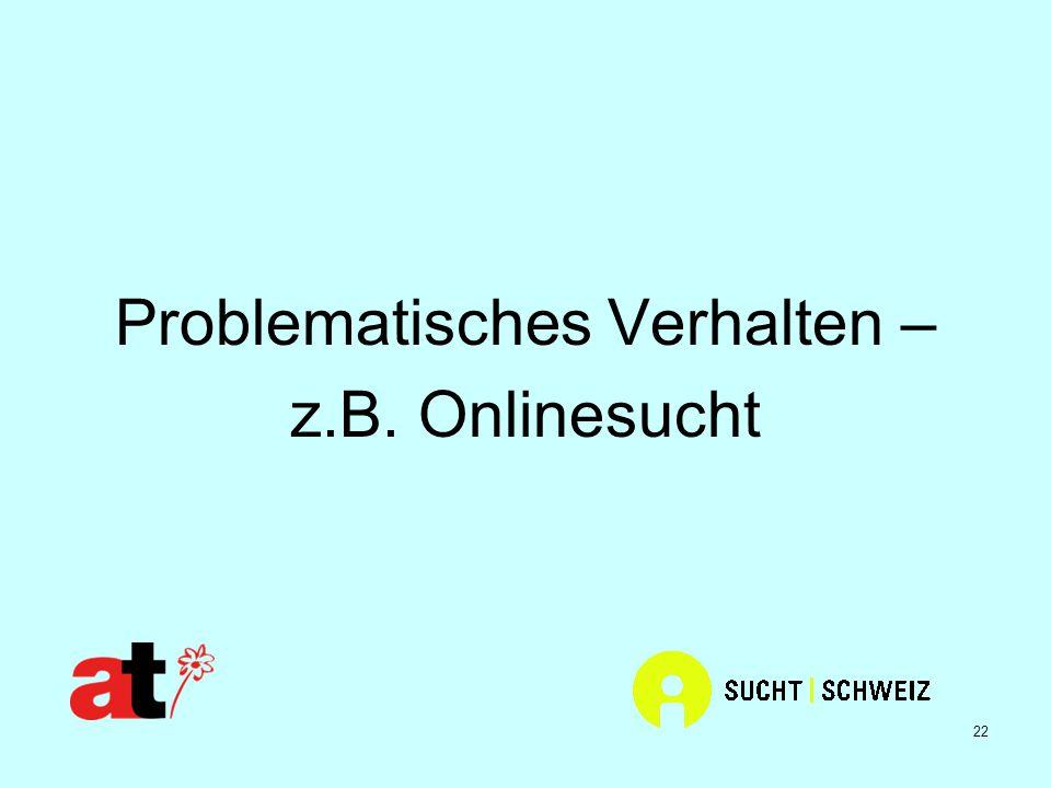 22 Problematisches Verhalten – z.B. Onlinesucht