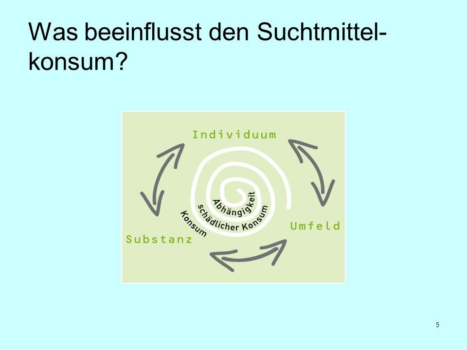 5 Was beeinflusst den Suchtmittel- konsum?