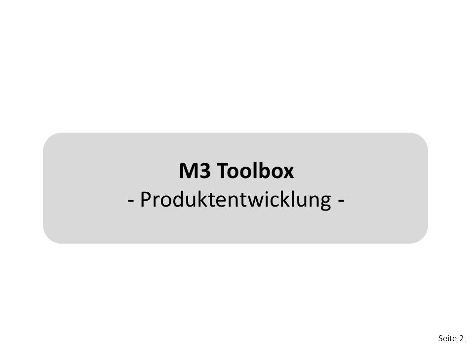 Seite 2 M3 Toolbox - Produktentwicklung -