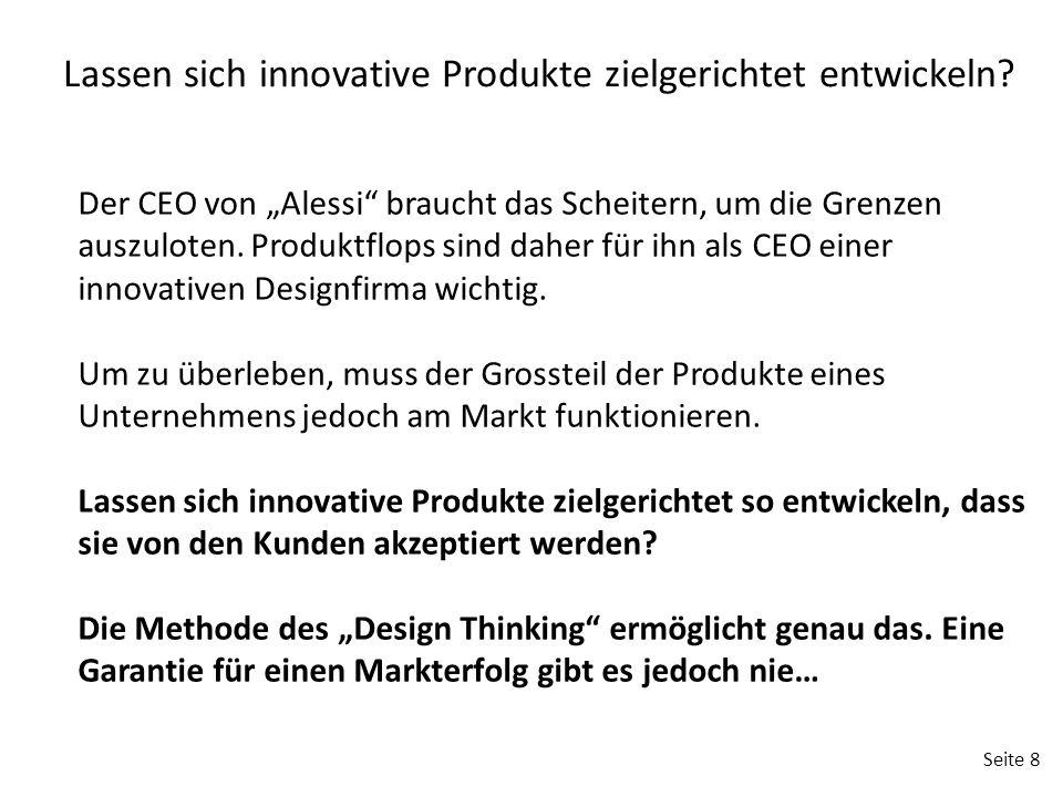 """Seite 8 Der CEO von """"Alessi braucht das Scheitern, um die Grenzen auszuloten."""