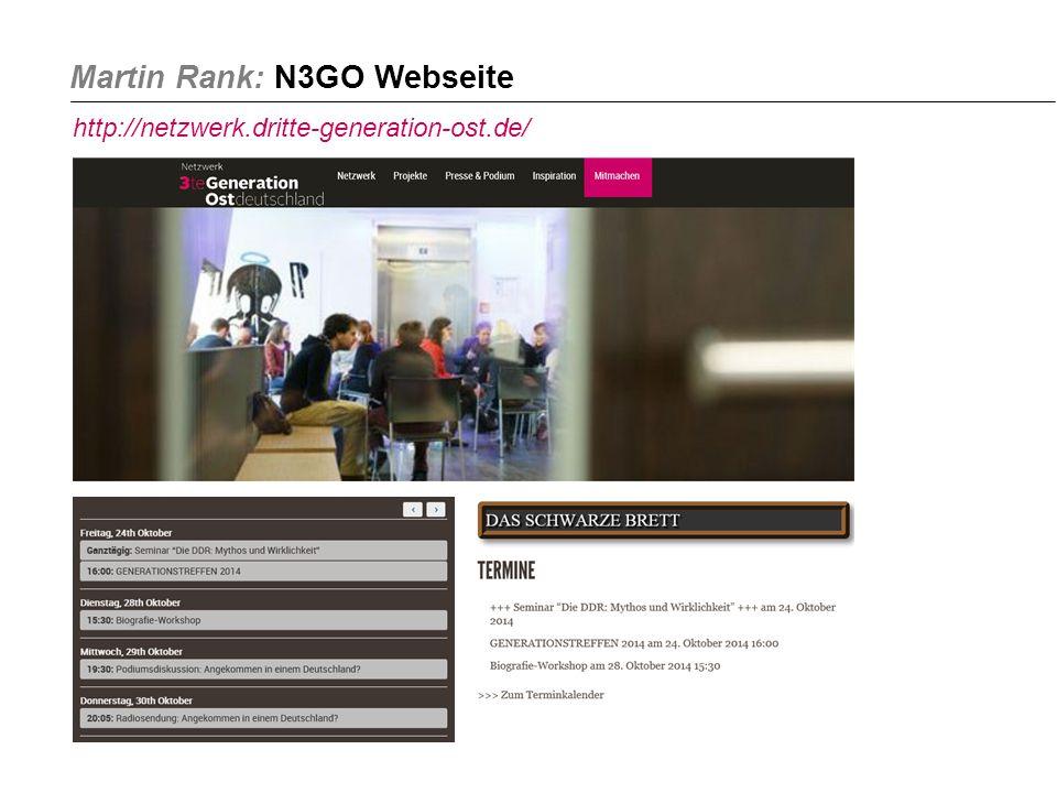 Martin Rank: N3GO Webseite http://netzwerk.dritte-generation-ost.de/