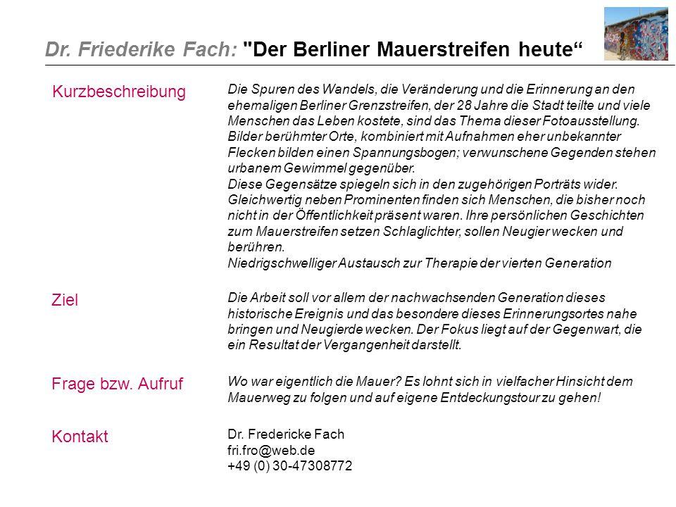 Dr. Friederike Fach: