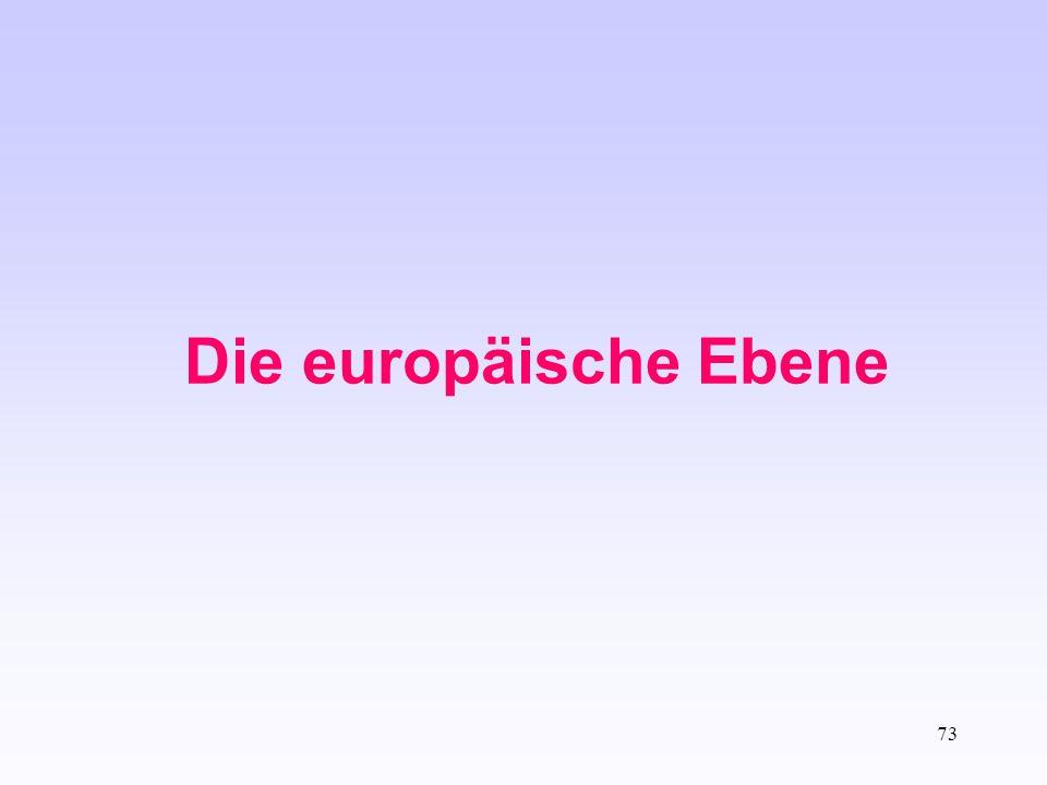 73 Die europäische Ebene