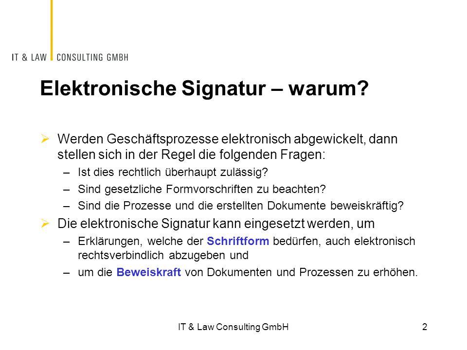 Elektronische Signatur – warum.