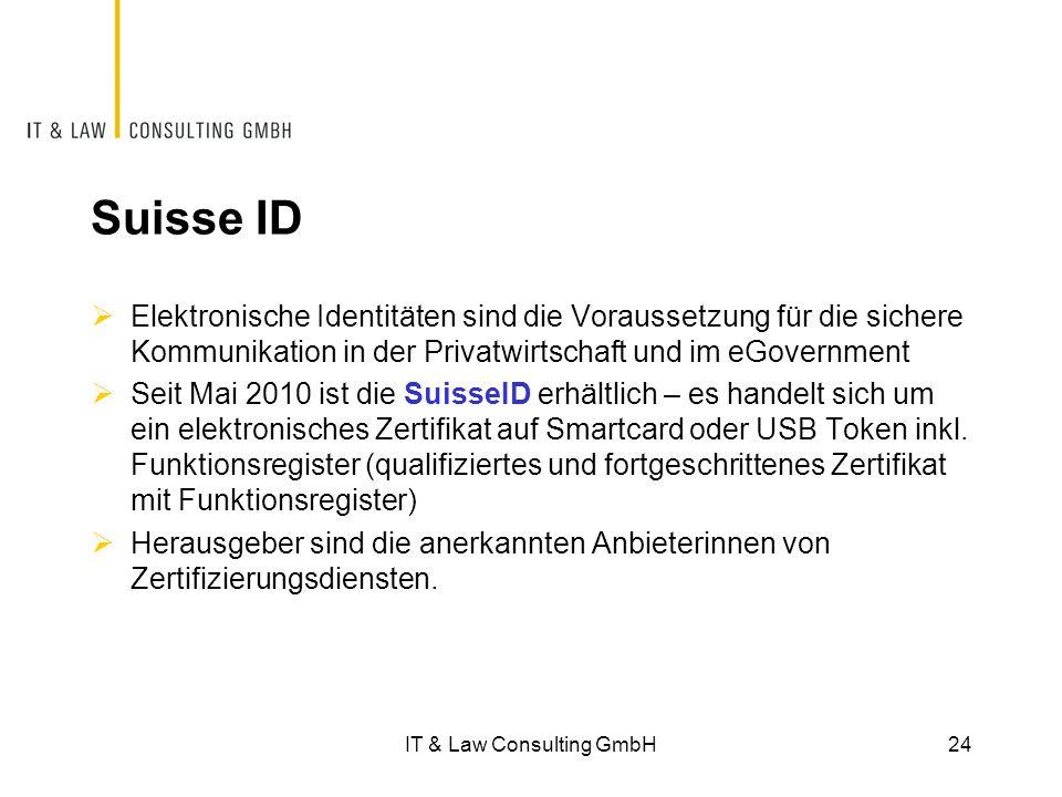 Suisse ID  Elektronische Identitäten sind die Voraussetzung für die sichere Kommunikation in der Privatwirtschaft und im eGovernment  Seit Mai 2010 ist die SuisseID erhältlich – es handelt sich um ein elektronisches Zertifikat auf Smartcard oder USB Token inkl.