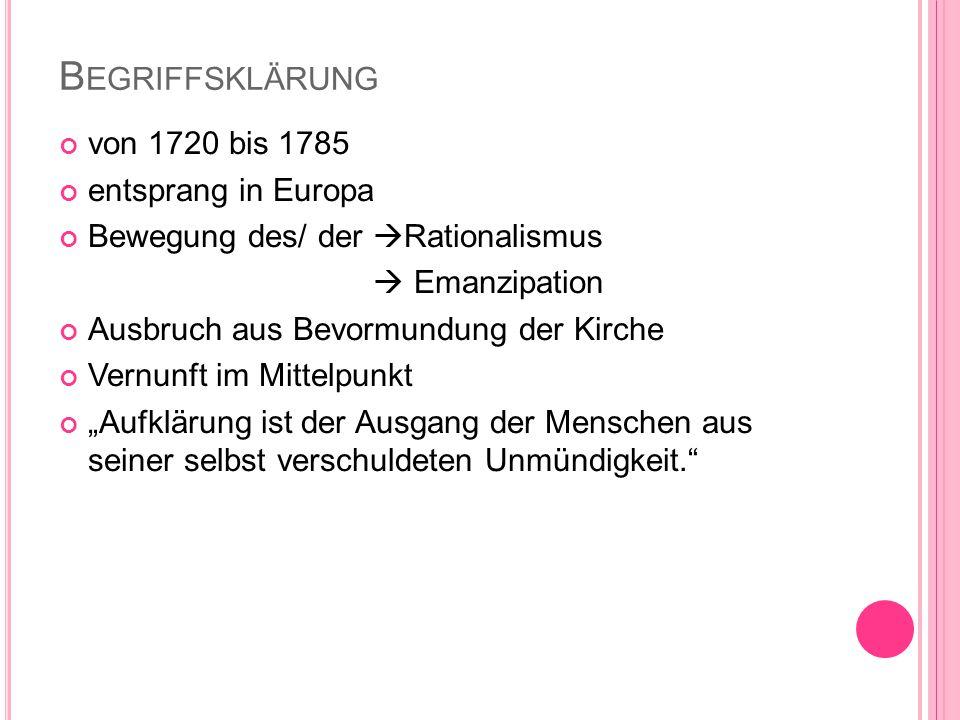 Q UELLEN http://www.google.de/imgres?q=zeitalter+der+aufkl%C3%A4rung&sa=X&biw= 1366&bih=598&tbm=isch&tbnid=vawDidaLSygihM:&imgrefurl http://www.helles- koepfchen.de/artikel/2862.html&docid=Z3SmV1AaTFPcaM&imgurl http://www.helles- koepfchen.de/bilder/originale/wissen/geschichte_kultur/aufklaerung1.jpg&w=2 30&h=166&ei=5oIQUoK1JKWM7Qau54G4DQ&zoom=1&iact=hc&vpx=951&v py=290&dur=2316&hovh=132&hovw=184&tx=155&ty=43&page=1&tbnh=132 &tbnw=177&start=0&ndsp=24&ved=1t:429,r:6,s:0,i:105 http://www.bbs1- lueneburg.de/joomla/files/deutsch/deutsch_homepage/aufklaerung_1.pdf http://dasabitur.blogspot.de/2009/04/aufklarung-epoche.html http://liceorot.pbworks.com/f/MaD+-+Milena+5.pdf http://2.bp.blogspot.com/- vIRDFqB6oJA/UJ_JDkNCjYI/AAAAAAAAEVI/XIkXvVlb4_g/s200/af97 bbaf-90bf-4d9c-9d15-054815dc1c00.jpg http://www.fundus.org/pdf.asp?ID=154