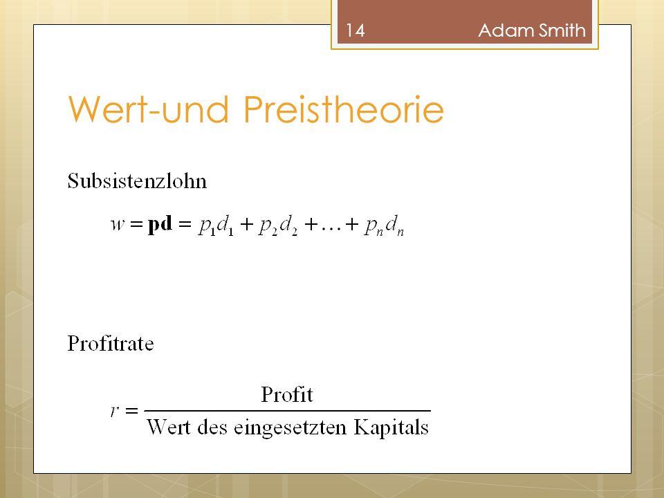 Wert-und Preistheorie 14Adam Smith