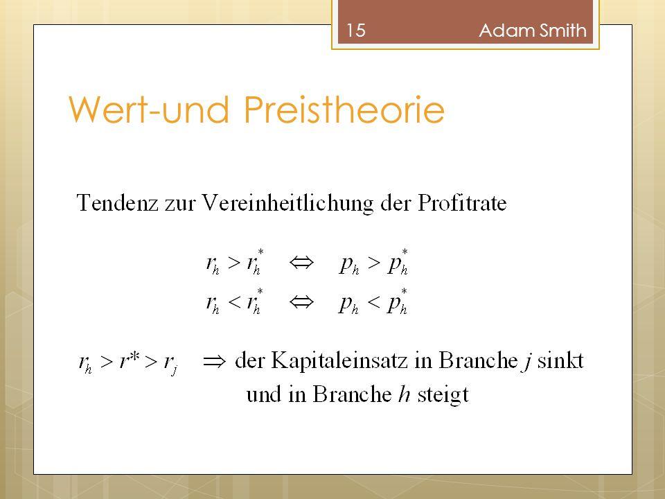 Wert-und Preistheorie 15Adam Smith