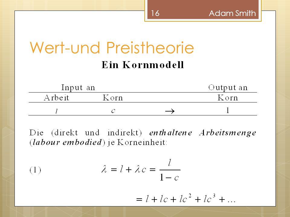 Wert-und Preistheorie 16Adam Smith