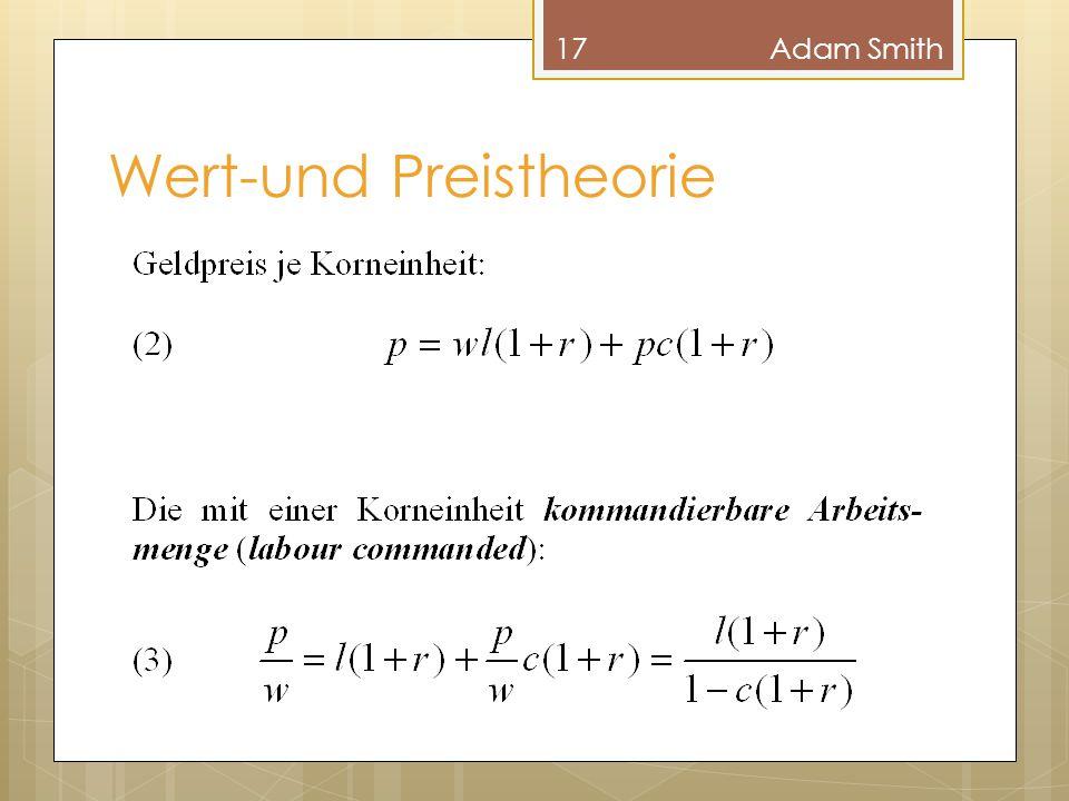 Wert-und Preistheorie 17Adam Smith