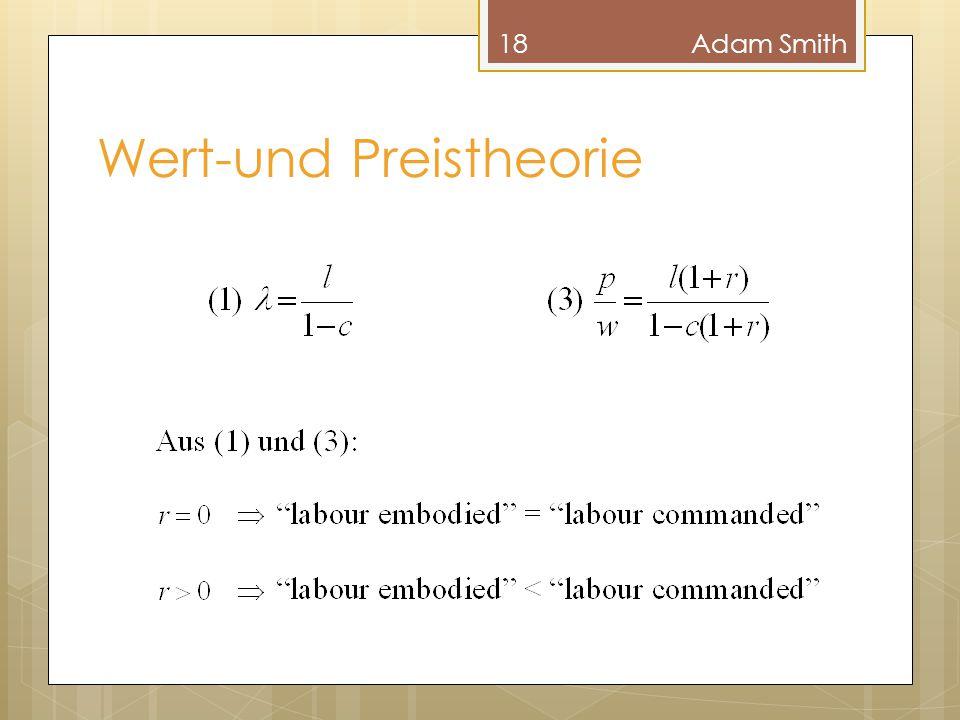Wert-und Preistheorie 18Adam Smith