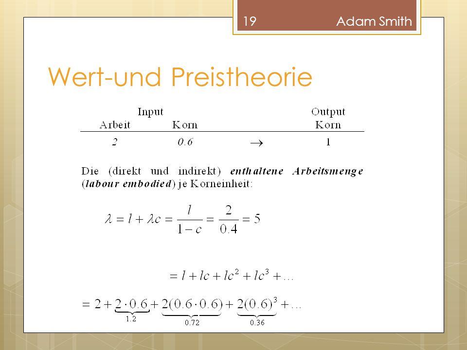 Wert-und Preistheorie 19Adam Smith