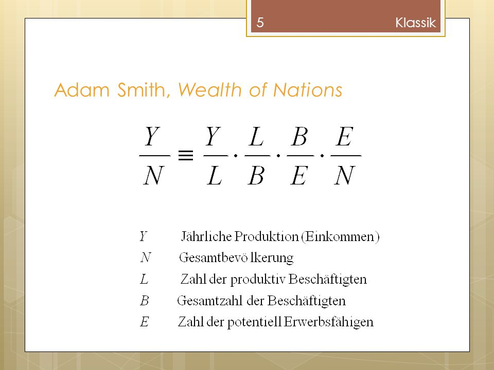 5 Adam Smith, Wealth of Nations Klassik