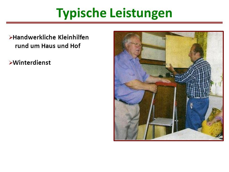  Handwerkliche Kleinhilfen rund um Haus und Hof  Winterdienst Typische Leistungen