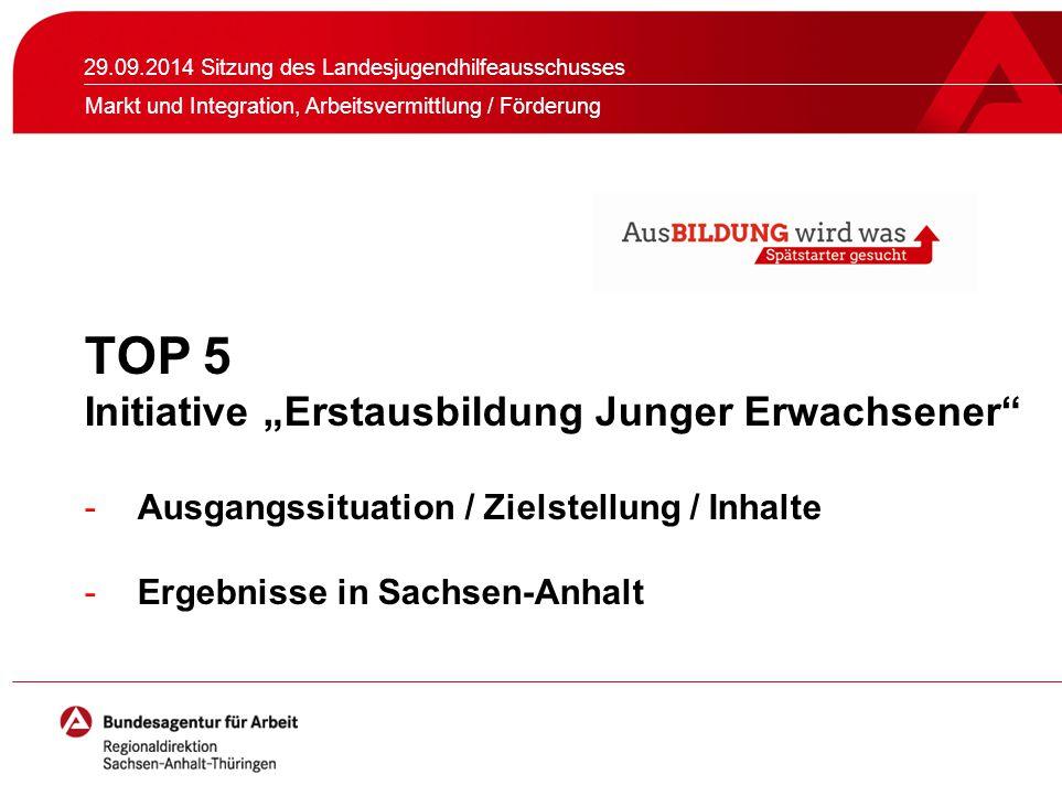 Seite 2 Geschäftspolitischer Schwerpunkt in Arbeitsagenturen und Jobcentern + 29.09.2014_U35_Regionaldirektion Sachsen-Anhalt-Thüringen