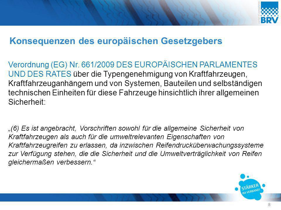 Konsequenzen des europäischen Gesetzgebers Verordnung (EG) Nr. 661/2009 DES EUROPÄISCHEN PARLAMENTES UND DES RATES über die Typengenehmigung von Kraft