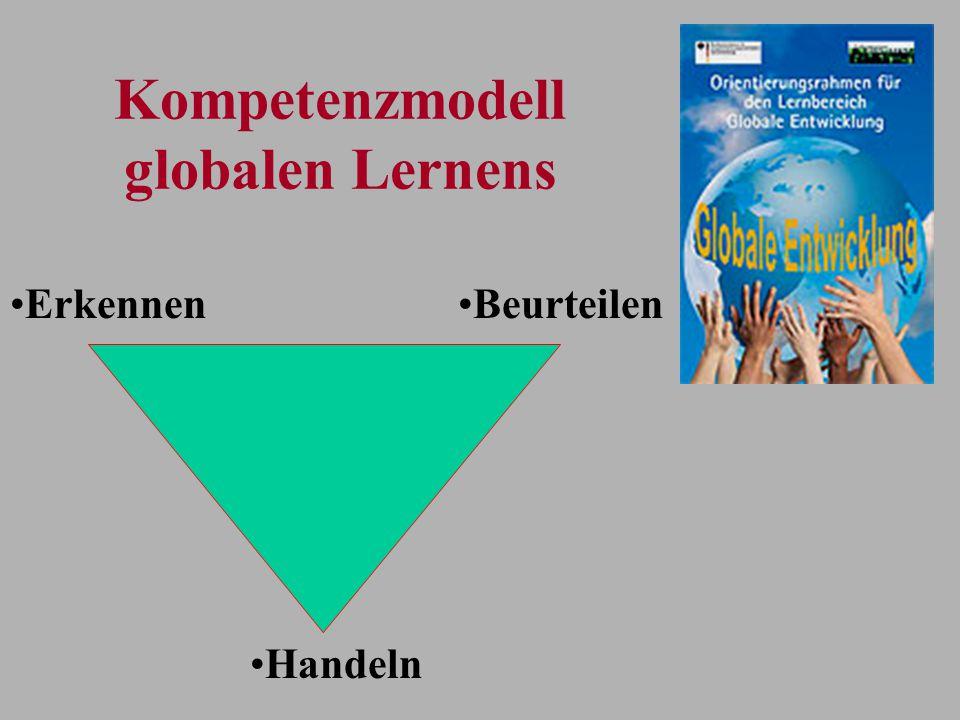 Kompetenzmodell globalen Lernens Handeln BeurteilenErkennen