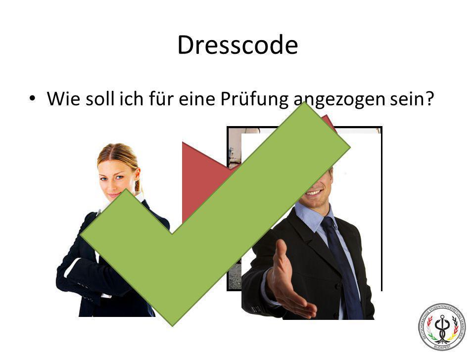Dresscode Wie soll ich für eine Prüfung angezogen sein?