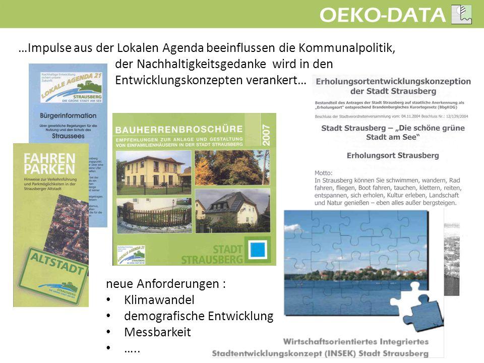 """Als Anregung und Vorbild diente das """"Projekt 21 – Nachhaltigkeit messen und konsequent handeln aus Rheinland-Pfalz, dessen erster Schritt die Erarbeitung eines Nachhaltigkeitsberichtes darstellt."""