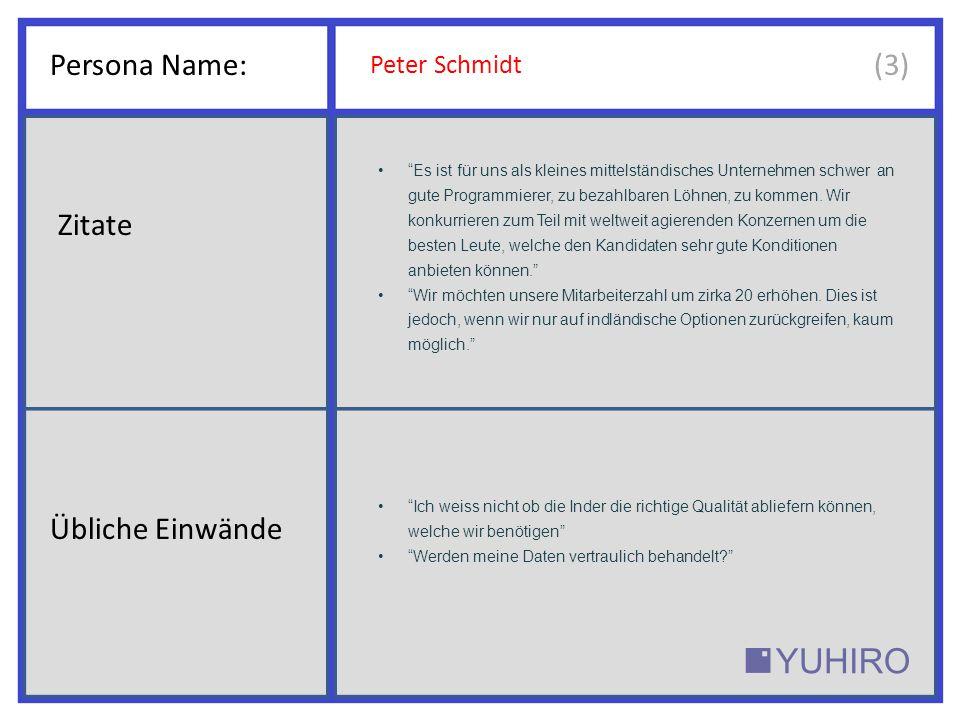 Persona Name: Peter Schmidt Die besten Entwickler, einfach skalierbar für Ihr Unternehmen.