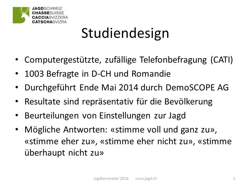 Waffenhandhabung 13Jagdbarometer 2014 www.jagd.ch