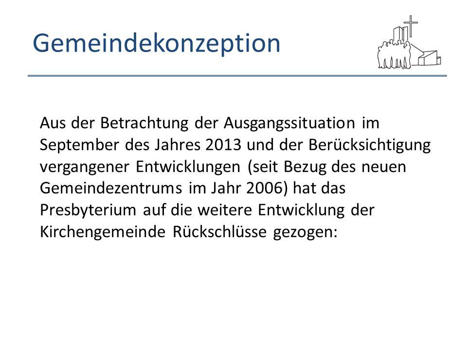 Gemeindekonzeption Aus der Betrachtung der Ausgangssituation im September des Jahres 2013 und der Berücksichtigung vergangener Entwicklungen (seit Bez
