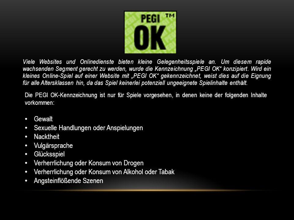 QUELLEN: www.USK.de www.pegi.info/de/ (Texte und Bilder inbegriffen)