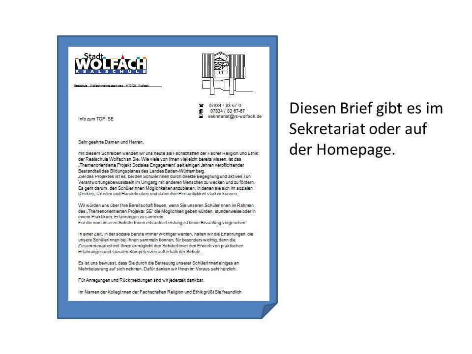 Diesen Brief gibt es im Sekretariat oder auf der Homepage.