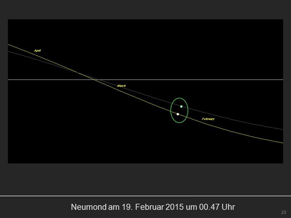 Neumond am 19. Februar 2015 um 00.47 Uhr 23