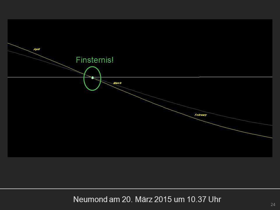 Neumond am 20. März 2015 um 10.37 Uhr 24 Finsternis!