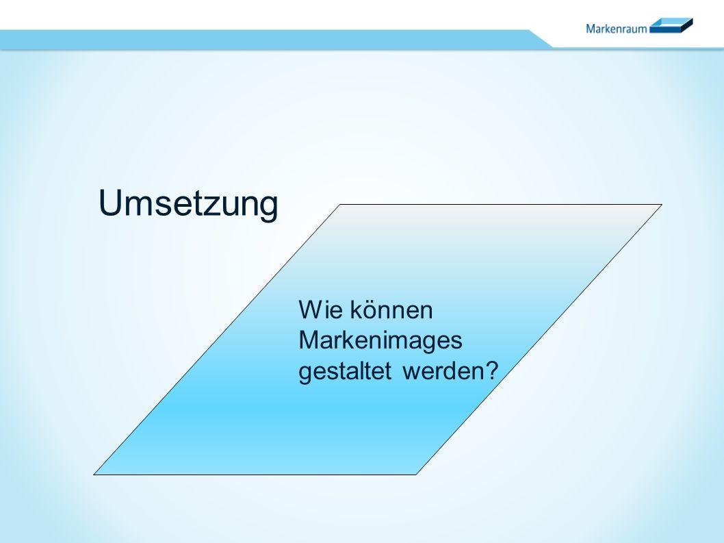 Umsetzung Wie können Markenimages gestaltet werden?