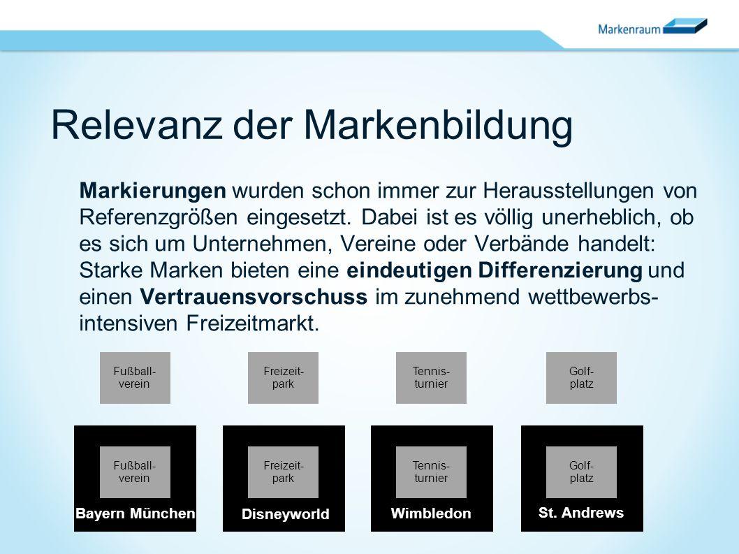 Relevanz der Markenbildung Markierungen wurden schon immer zur Herausstellungen von Referenzgrößen eingesetzt. Dabei ist es völlig unerheblich, ob es