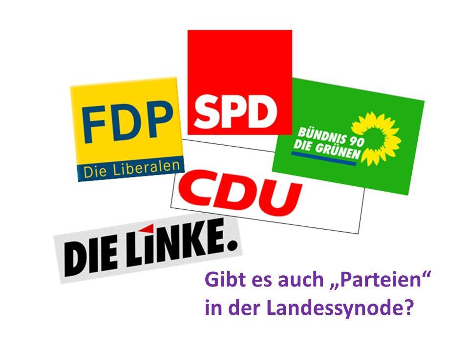 """Gibt es auch """"Parteien"""" in der Landessynode?"""