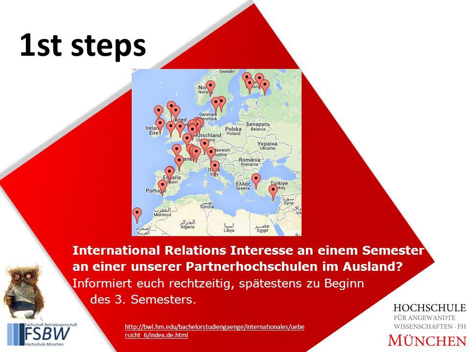 International Relations Interesse an einem Semester an einer unserer Partnerhochschulen im Ausland.