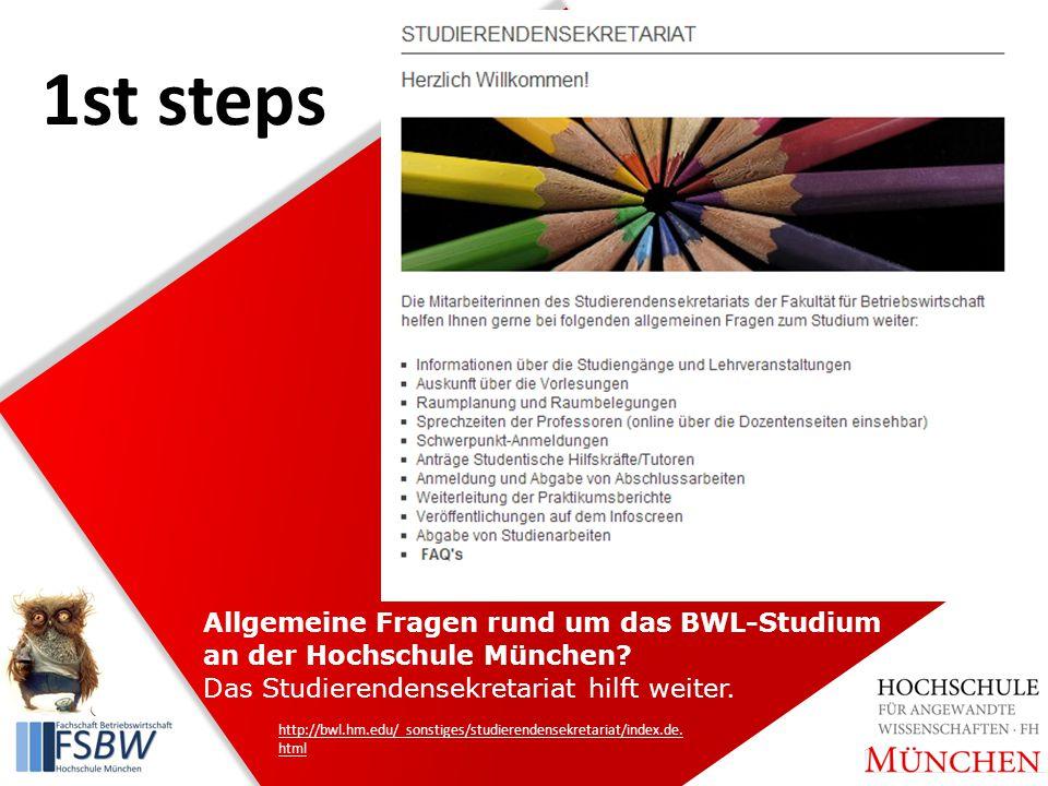Allgemeine Fragen rund um das BWL-Studium an der Hochschule München.
