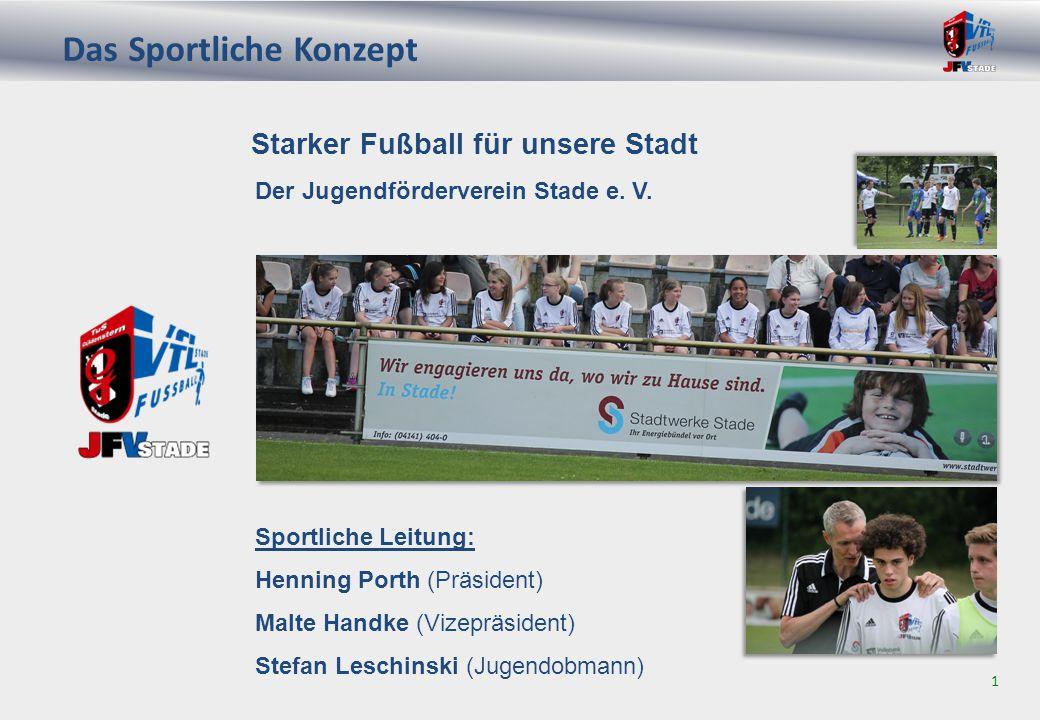 JFV Stade – Vorwort 2 Durch den Zusammenschluss im Jugendbereich ab D-Jugend haben die Vereine VfL Stade und TuS Güldenstern Stade die Basis geschaffen, um in Stade attraktiven Fußball zu fördern und in Zukunft zu etablieren.