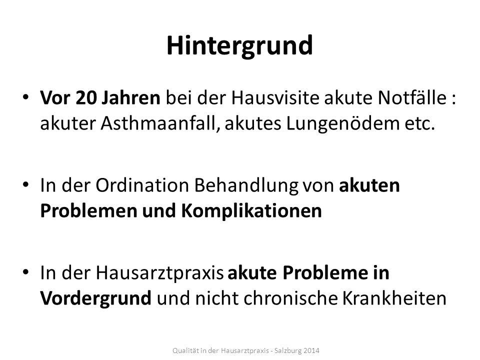 Quality Score aus 19 Indikatoren Qualität in der Hausarztpraxis - Salzburg 2014