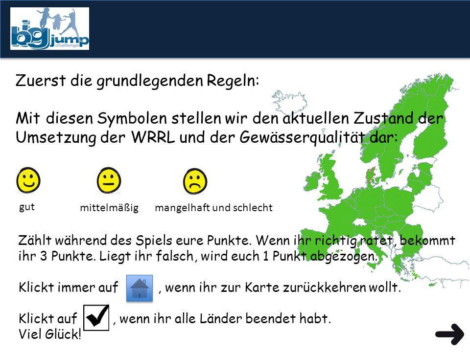 Wie gut kennt ihr die europäischen Gewässer und den Stand der Umsetzung der Bewirtschaftungspläne ...lasst es uns herausfinden.