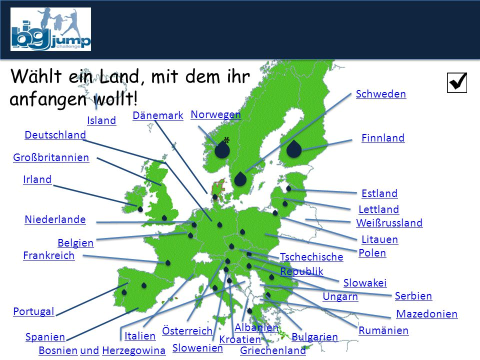 Zuordnung der Symbole nach folgenden Erläuterungen: Umsetzung: = Bewirtschaftungspläne wurden vollständig vorgelegt = Bewirtschaftungspläne wurden nicht vollständig vorgelegt = Bewirtschaftungspläne wurden nicht vorgelegt oder die Dokumente erfüllen nicht die Voraussetzungen Wasserqualität: % der Gewässer sind in einem sehr guten oder guten ökologischen Zustand = > 60% = 40-60% = <40% Für zusätzliche Informationen besucht die Homepage der Europäischen Kommission: http://ec.europa.eu/environment/water/participation/map_mc/map.htm Weitere Informationen: