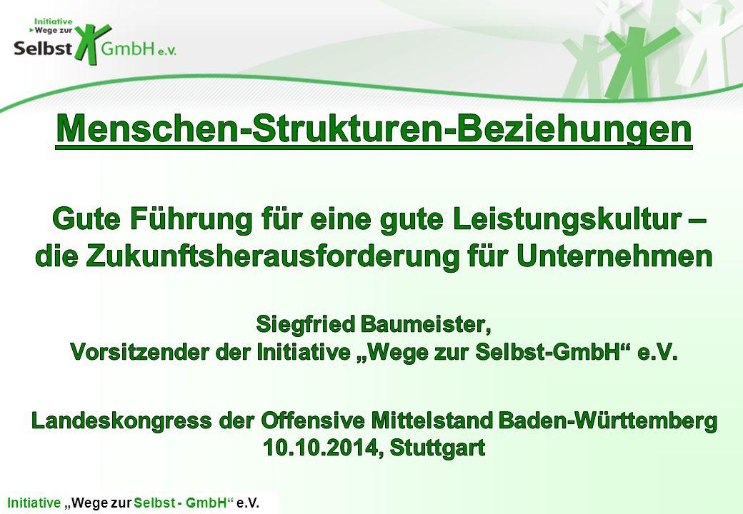 "Initiative ""Wege zur Selbst - GmbH e.V."