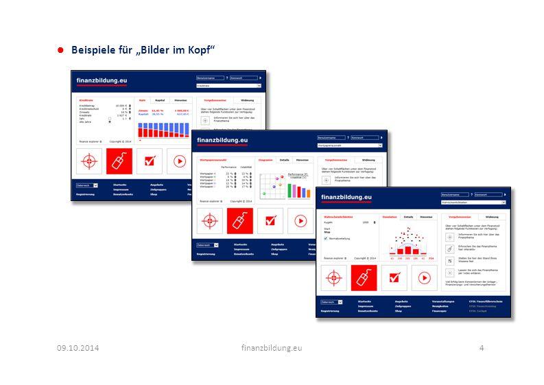 """Beispiele für """"Bilder im Kopf 09.10.2014finanzbildung.eu4"""