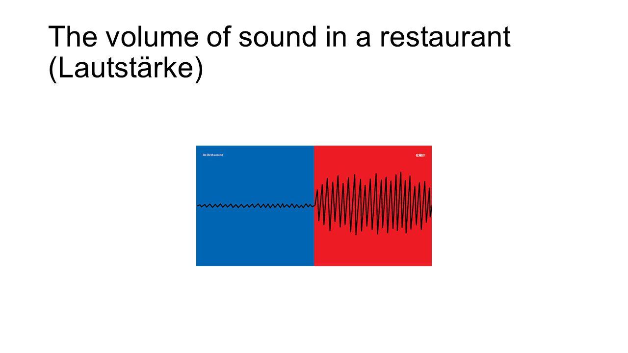 The volume of sound in a restaurant (Lautstärke)